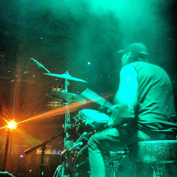 Luke's layin' it down!! #gffg #wolfandsnakestour #cobraskulls